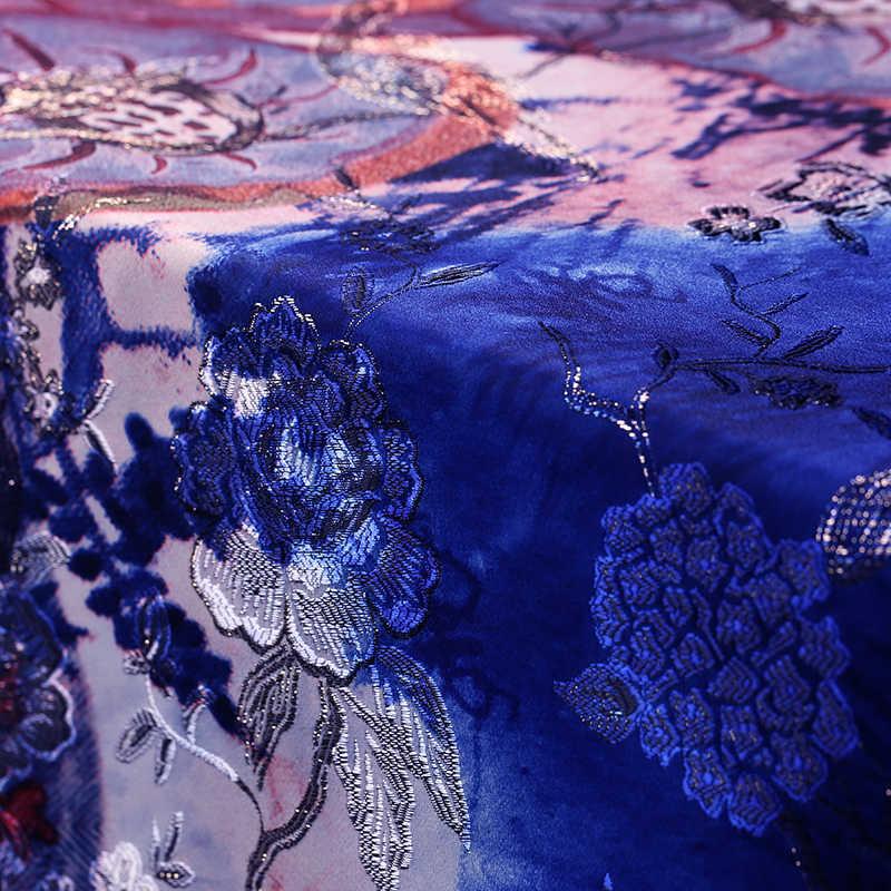 Nhập Khẩu Pháp In Vải Dệt Hoa Mặc Áo Khoác Chất Liệu Vải Thổ Cẩm Giáng Sinh Tissu Âu Metre Telas Miếng Dán Cường Lực Tissu Vải DIY