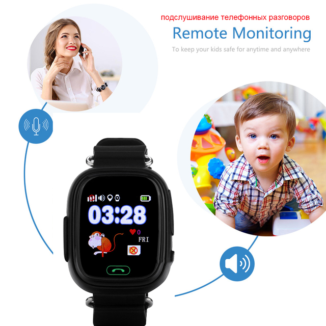 Original Q90 GPS Phone Positioning Children Watches with WIFI SOS Smart Baby Kids Watch Anti Lost Monitor Tracker PK Q80 Q50 Q60