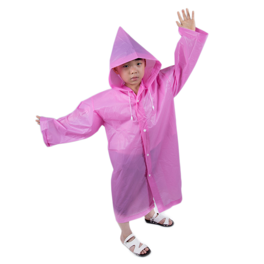 Image 5 - Fashion Frosted Child Transparent EVA Raincoat Girl Boy Rainwear Outdoor Hiking Travel Rain Gear Coat For Children-in Raincoats from Home & Garden