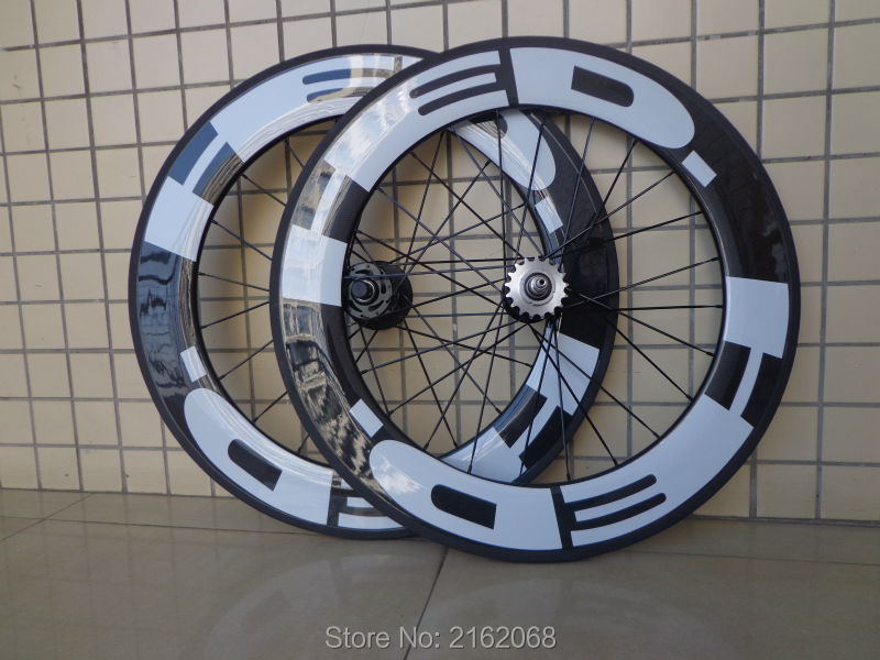 1pair New 700C 88mm clincher rim track fixed gear bike 3K UD 12K full carbon fibre bicycle wheelset 20.5 23 25mm width Free ship no brake farsport fsl88 cm 23 clincher 88mm 23mm track bike carbon bike wheel rim 88 high profile 88mm carbon track bicycle rim