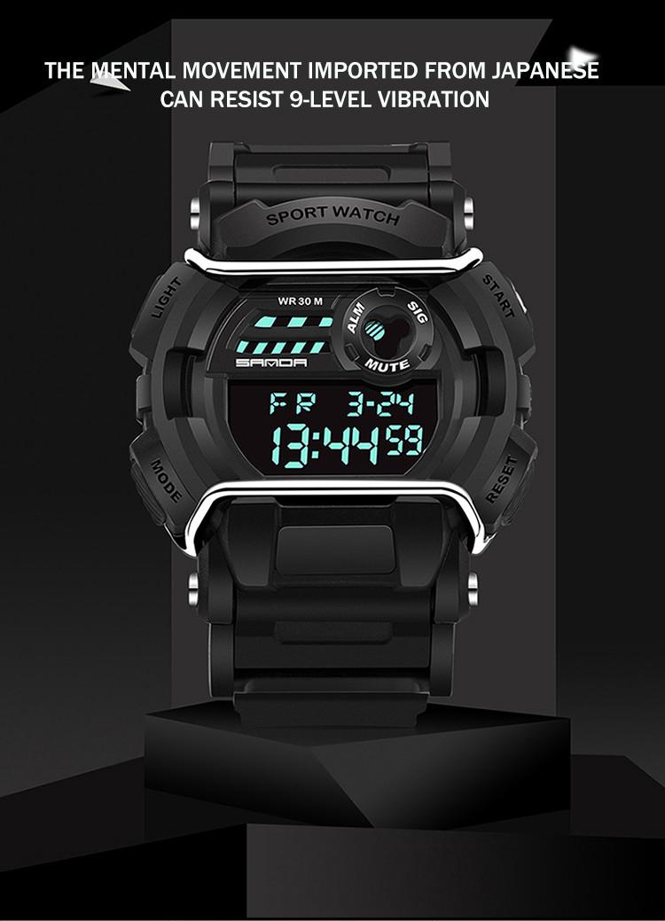 sanda luxury brand led digital watches fashion men\'s sports wristwatches drop shipping (37)