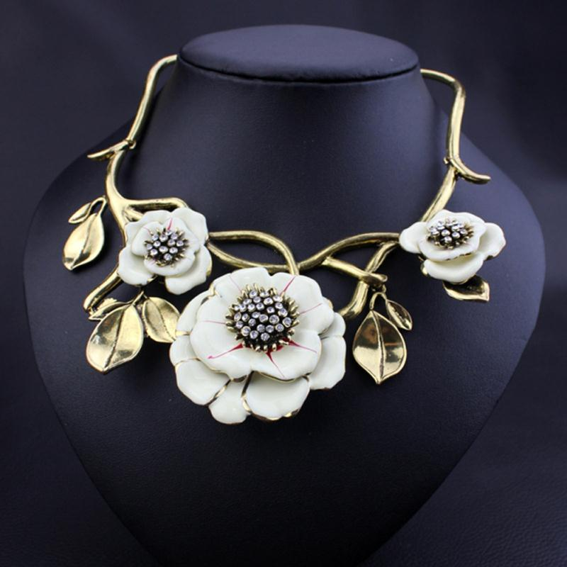 gold women stainless collier friend rose steel best products chain choker flower pendant charm boho metal jewelry necklace
