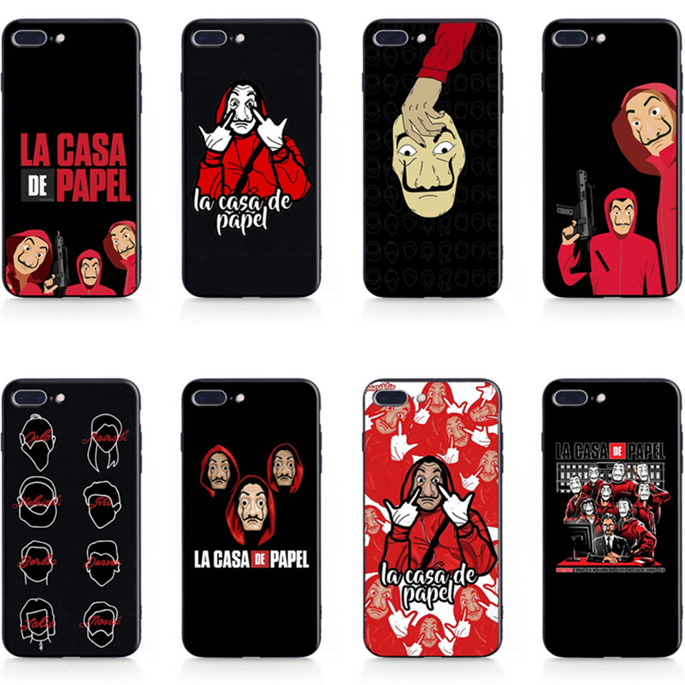 La Casa De Papel Money Heist Tv show Coque Silicone TPU Phone Case Back Cover For Apple iPhone 5 5s Se 6 6s 7 8 Plus X XR XS MAX