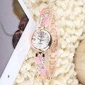 Relogio feminino Relógio de As Mulheres Se Vestem Relógios de Pulso de Aço Marca de Luxo Senhora Relógio De Quartzo Diamante Rosa Relógios de Ouro Para A Mulher Waches