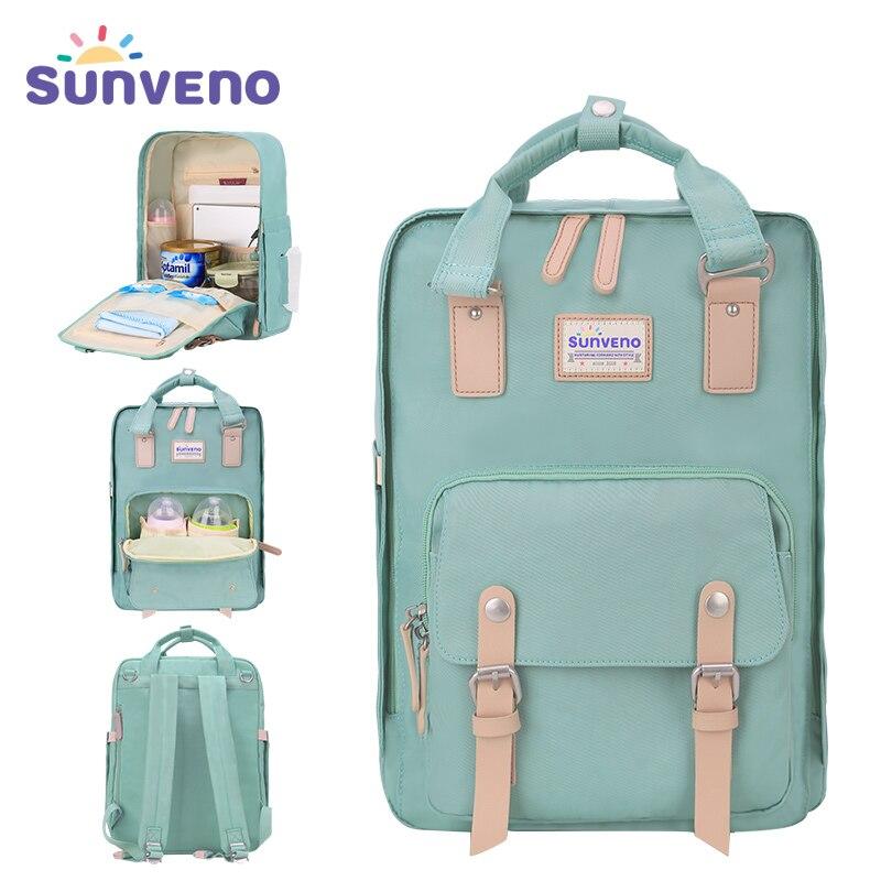 2017 New SUNVENO Diaper Bags Large Capacity Nappy Bag Multifunctional Backpack Fashion Handbag