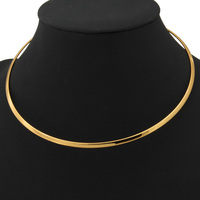New Design Men S Torques Necklace 18K Gold Platinum Plated Choker Necklace Simple Fashion Jewelry Gift