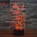 Cores Mudando Herói Deadpool Acrílico 3D LED USB Luz da Noite LEVOU Lâmpada de Mesa Decorativa LED Colorido Humor Lâmpada Do Sono Do Bebê