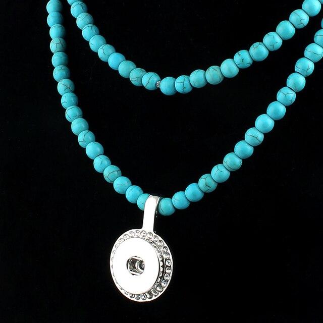 Nouvelles perles Snap collier 76 cm pour les femmes avec pendentif élégant Fit bricolage 18 MM Xinnver boutons pression bijoux en gros ZG015