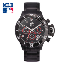 MLB NY fashion sport men watch mulitfunction waterproof wristwatch stainless steel black men  quartz watches clock SD004
