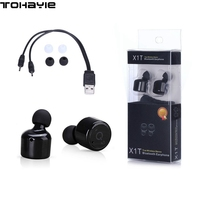 ToHayie X1T True Wireless Bluetooth Headset Earphones Mini Portable Handsfree Stereo Earbuds With Mic Auriculares Bluetooth