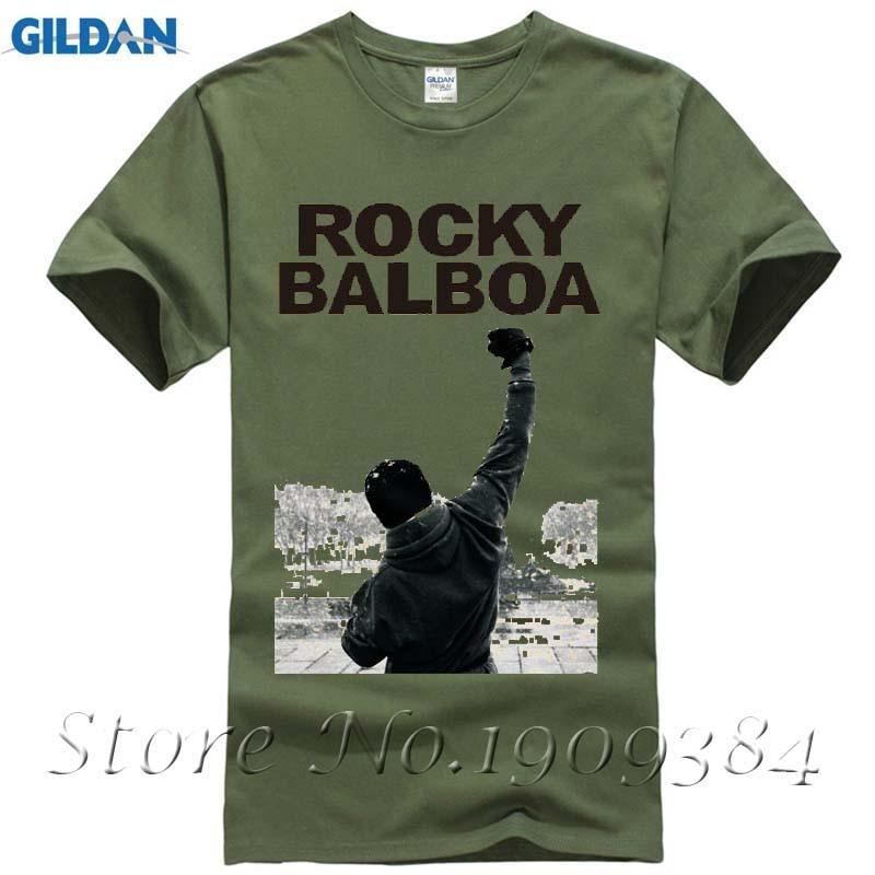 """rocky Balboa Poster Film Rock N Roll T-shirt Top Baumwolle Männer T Shirt Neue Design Hohe Qualität Digital Inkjet Druck"""
