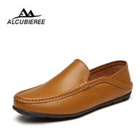 Italian Casual Men Loafers Shoes Luxury Design Sneakers Leather Genuine Slip On Boat Shoes Men Summer