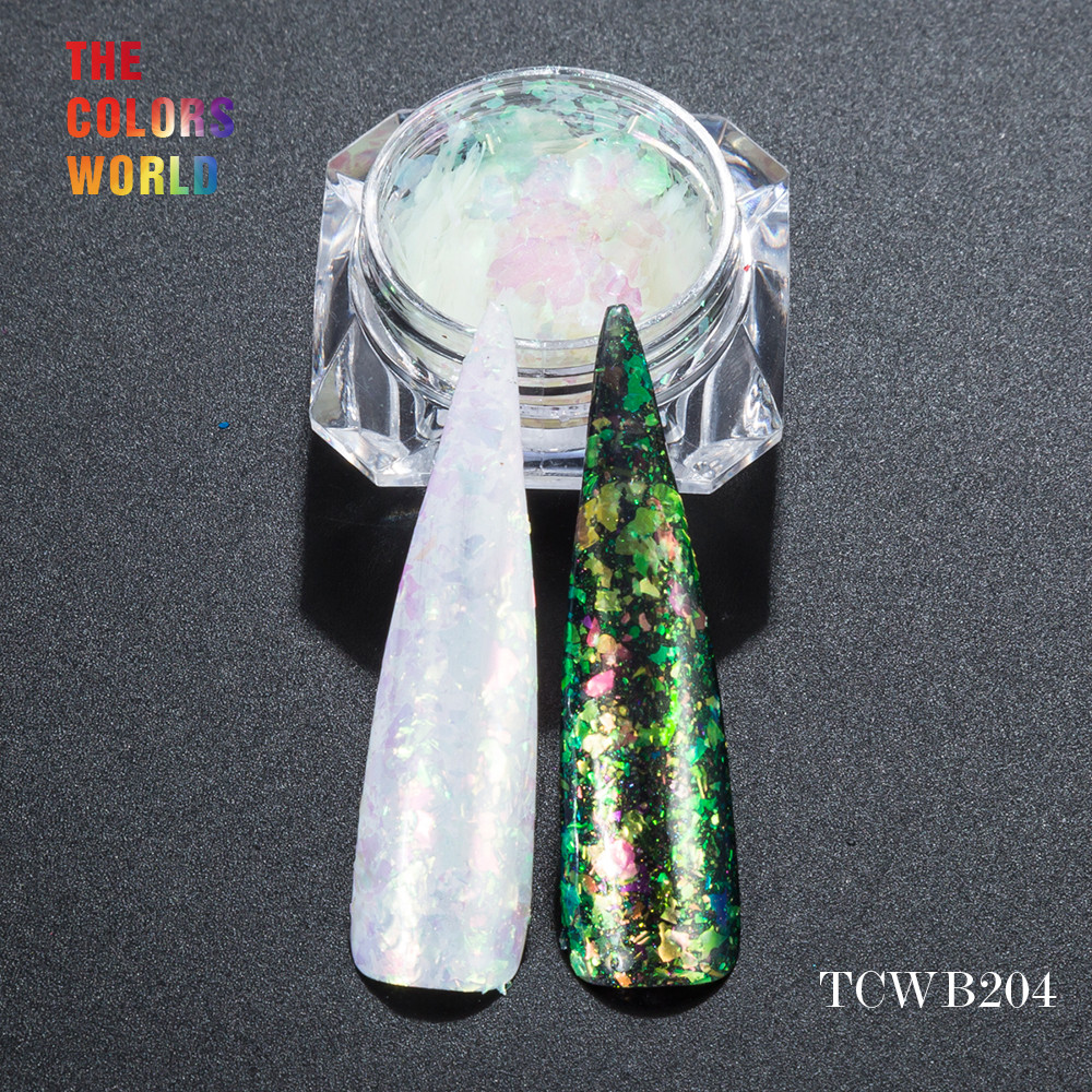 TCWB204 Chameleon Flakes Magic Effect Flakes large size chameleon for nail Art nail polish and other DIY decoration корм tetra tetramin xl flakes complete food for larger tropical fish крупные хлопья для больших тропических рыб 10л 769946
