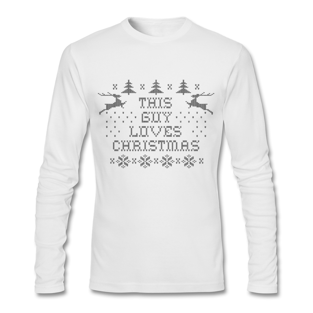 Shirt design software online - Designing Round Neck Adult T Shirts Simple Style For Man This Guy Christmas Natural Cotton