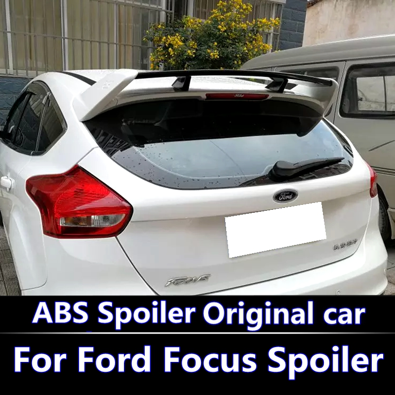 For Ford Focus ST 2012-2015 Spoiler High Quality ABS Material Car Rear Wing Primer Color Rear Spoiler For Focus ST Spoiler for hyundai elantra spoiler 2012 2013 2014 2015 car tail wing decoration abs plastic unpainted primer rear trunk spoiler