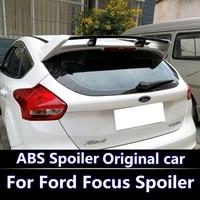 For Ford Focus ST 2012 2015 Spoiler High Quality ABS Material Car Rear Wing Primer Color Rear Spoiler For Focus ST Spoiler