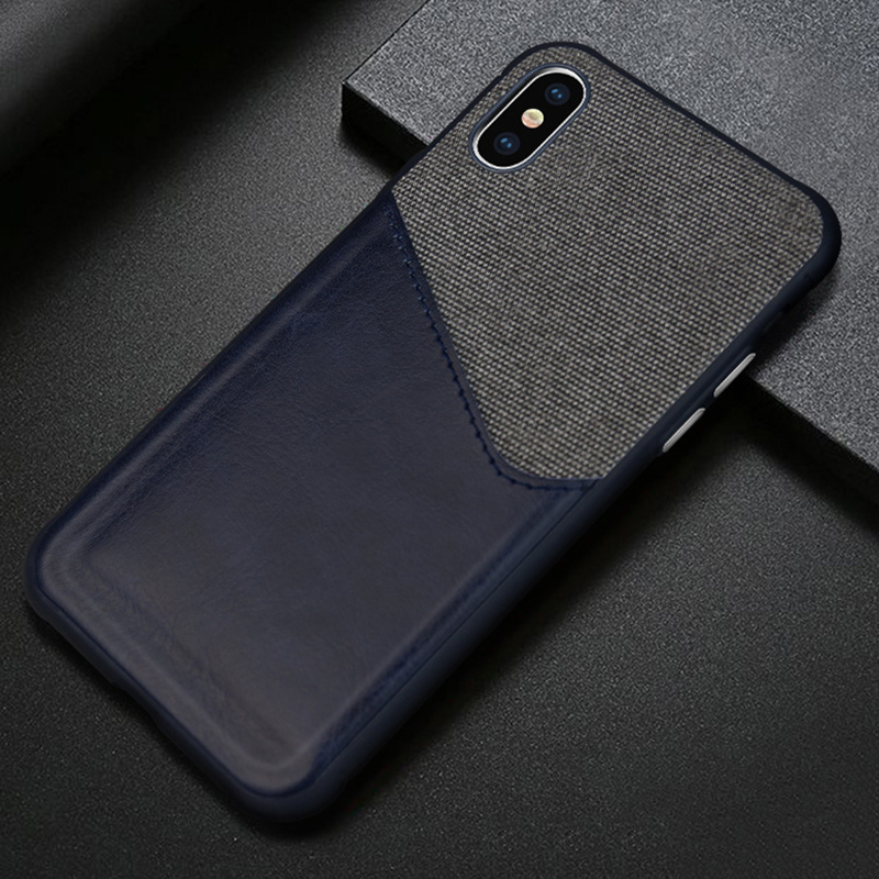 Business Wallet Phone Iphone X Iphone XS Max XR XS Case Luxury Cloth PU Leather Back Cover Coque With Card Pocket Slot
