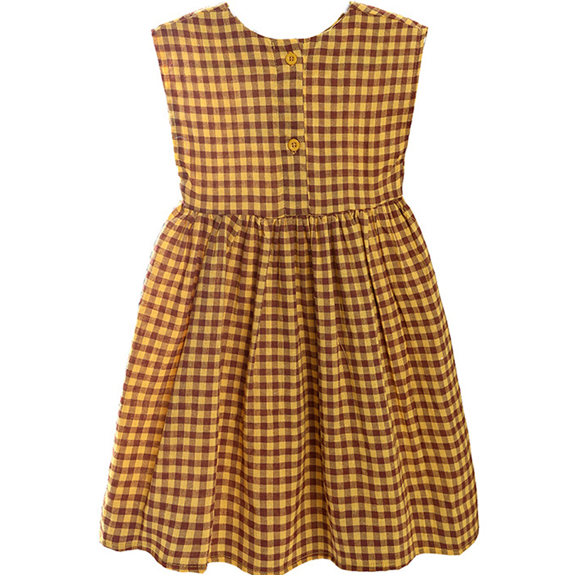Baby Girls Clothes Summer Baby Dress Sleeveless Plaid Princess Dress Cotton Toddler Dresses Casual Clothes Vestido Infantil 0 7M in Dresses from Mother Kids