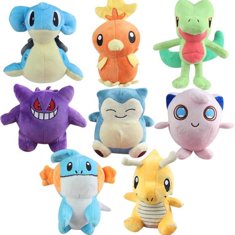 Милі мультфільми м'які плюшеві іграшки Kawaii домашні тварини фаршировані іграшки дитячі творчі ліжечка подарунок раннього освіти комфорт тварина дитина брязкальця  t