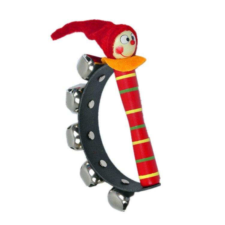 2 Stks/partij Merk Baby Houten Rammelaar Speelgoed/kids Kind Muziekdoos Instrumentale Voor Infant Cartoon Clown Bed Rammelaars Ringen, Verzending