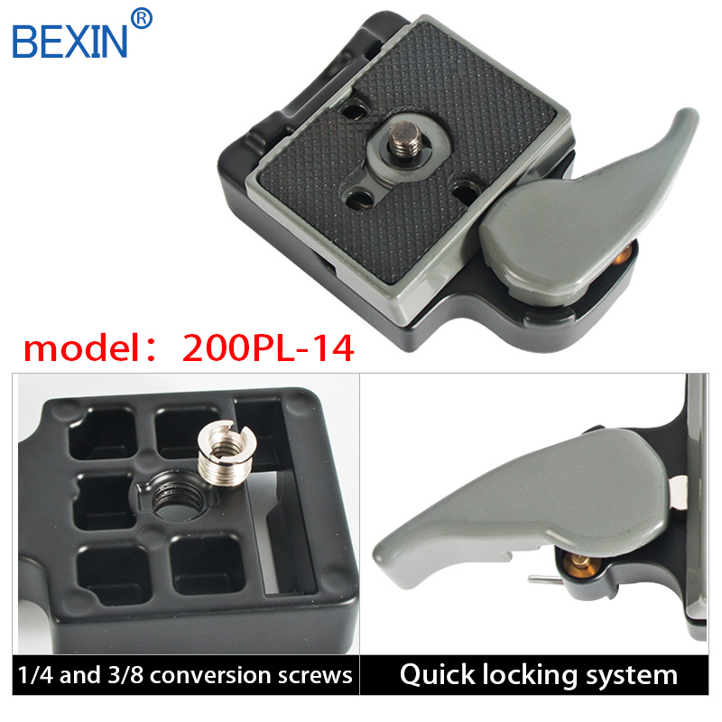 Bexin 323 camrea release clamp smallrig quick shot tripod adapter camera clamp for manfrotto 200pl camera with tripod plate in Tripod Monopods from Consumer Electronics