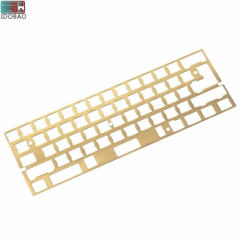 Arrival Hairline Finish Brass 60% Keyboard Sandblasting Diy Mechanical Keyboard Mounting Plate Gh60 Xd60 Cherry Mx