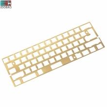 New Arrival Hairline Finish Brass 60% Keyboard Sandblasting Diy Mechanical Mounting Plate Gh60 Xd60 Cherry Mx
