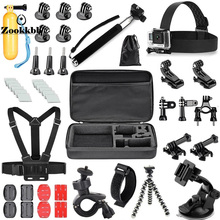 Zookkbb for Gopro Hero 5 4 3 Accessories Head strap Chest strap Monopod pole Bike Handlebar Holder Wifi remote hand belt