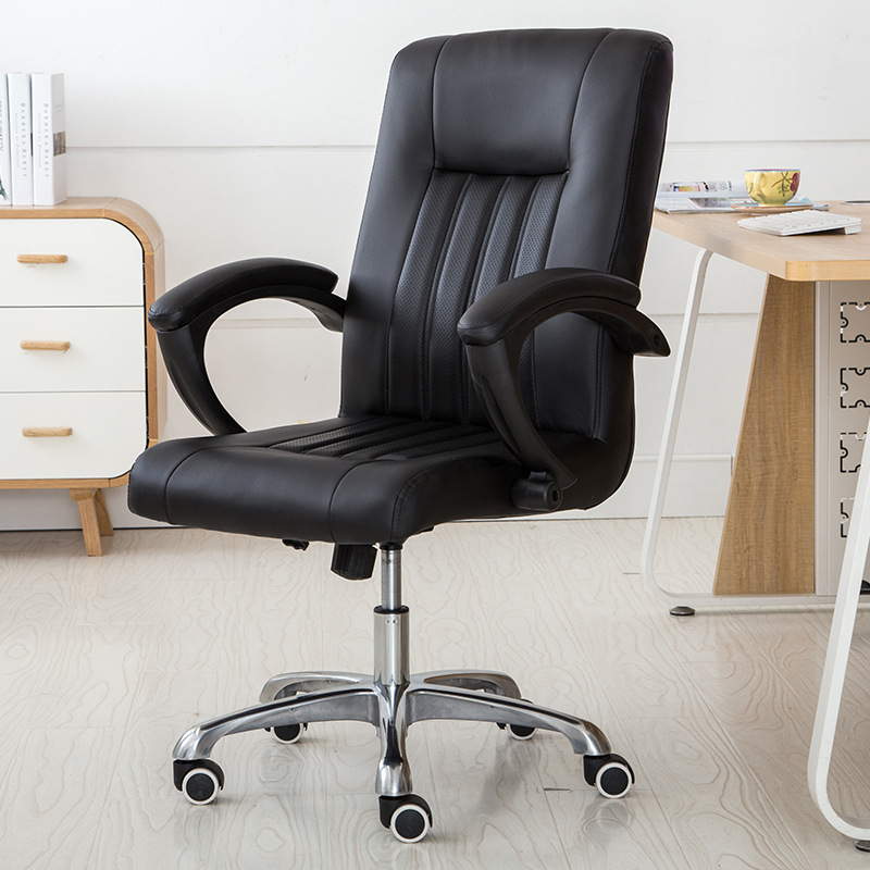 Soft Household Home Office Computer Chair Ergonomic Design Leisure Lifting Boss Chair Thicken Cushion Swivel Gaming Chair 240337 ergonomic chair quality pu wheel household office chair computer chair 3d thick cushion high breathable mesh