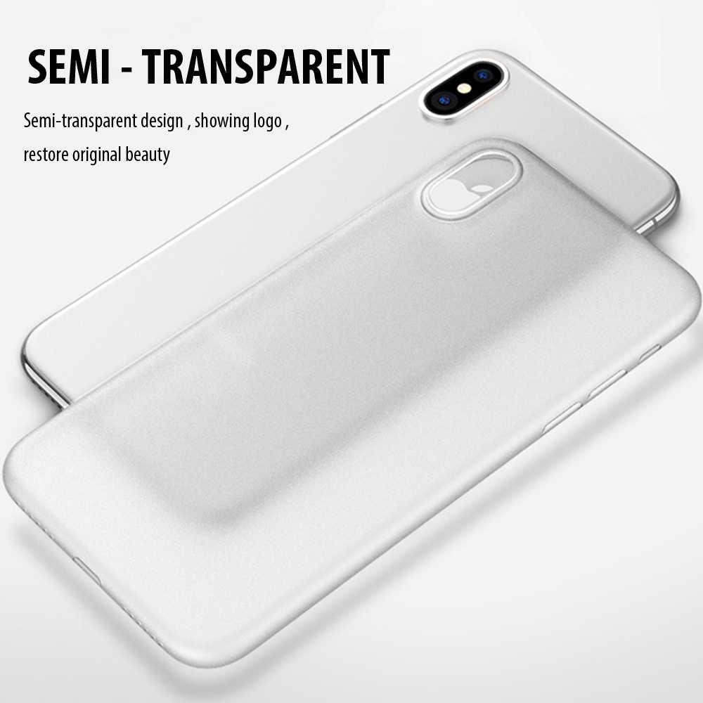 0.4mm ultradunne Telefoon Case Voor iPhone X XS 11 Pro Max Case Slim Matte 360 Volledige PC Cover voor iPhone 11 Pro XR X S 6 7 8 Gevallen
