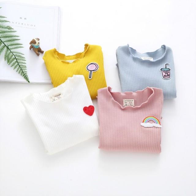 Baby Girl Thicken T-shirt Children Long Sleeve T-Shirts Tees Tops Warm Autumn Winter