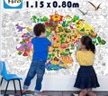 115*80 cm big size Kids Child super painter drawing board toys / huge drawing paper giant coloring poster toys, free shipping