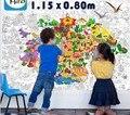 115*80 cm tamaño grande Kids Niño estupendo pintor juguetes tablero de dibujo/enorme cartel de papel de dibujo para colorear gigantes juguetes, envío gratis