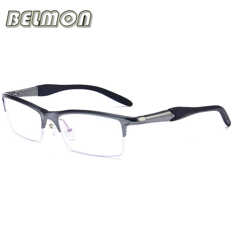 Spectacle Frame Eyeglasses Men Computer Optical Eye Glasses AL-MG For Male Transparent Clear Lens Armacao Oculos de RS086