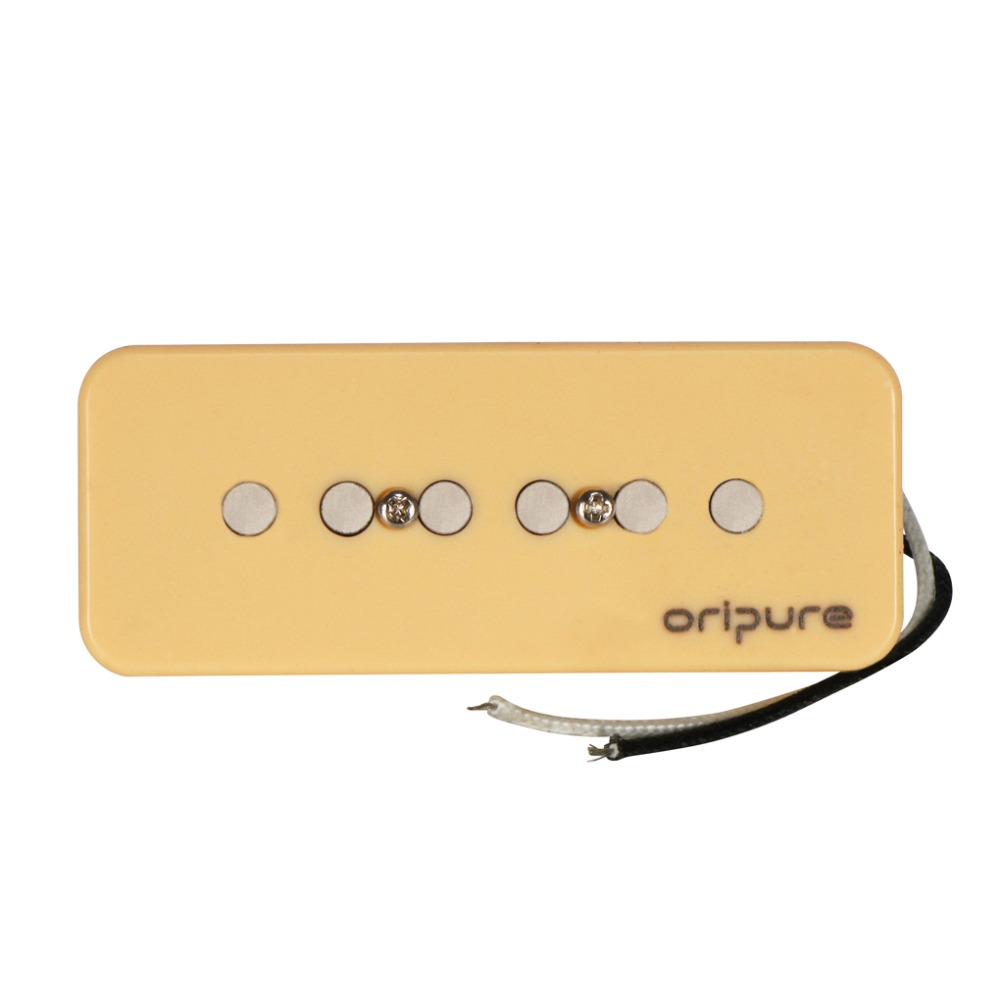 OriPure Alnico 5 P 90 P90 Pickup Soap Bar Electric Guitar Neck Pickup Cream for P90