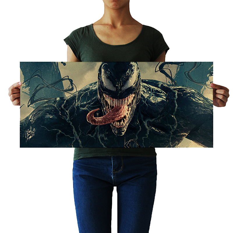 DLKKLB Venom Movie Tom Hardy Marvel Poster Comics Hero Posters Wall Art Picture For Living Room Home Decor Wall Sticker
