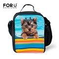 Cool Dog Animal Print Bolsa de Almuerzo Niños Zoo Multifunción Portátil Paquete de Comida de Alimentos Lonchera Aislante Bolsa de Almuerzo para Los Niños