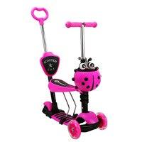 4 1 플래시 휠 어린이 2-7 년 야외 장난감 아기 세발 자전거 3 바퀴 아이 자전거 슬라이드 타고 장난감