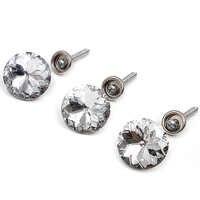 10 conjuntos de cristal fivela saco macio. Sofá unhas. Fivela de diamantes. Botões de diamante. Fivela decorativa de fundo. Botão.