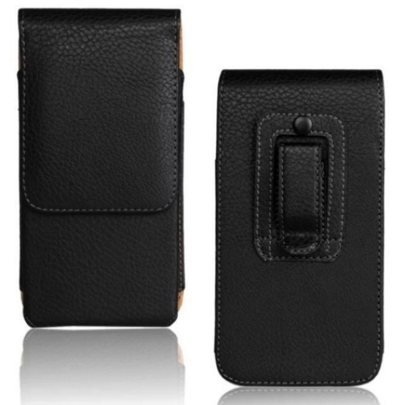 High Quality Smooth Lichee Pattern Leather Vertical Belt Clip Pouch Case Cover for Fly IQ400W Era Windows