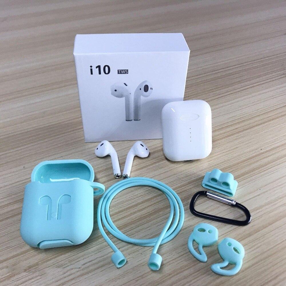 Qualité d'origine i10 tws 3D basse sans fil charge Bluetooth écouteurs 5.0 Air écouteurs tactile contrôle pods pour Android iphone