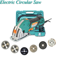 Household Chainsaw Set With Free 6 Saw Blades Electric Circular Saw Woodworking Tools Metal Tiles Mini Cutting Machine PS7818MS