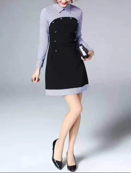 Vestido Curto 2017 Shirt Office Dresses Slim Vintage Party Mini Dress Online Ping India Robe Full Sleeve In From Women S Clothing