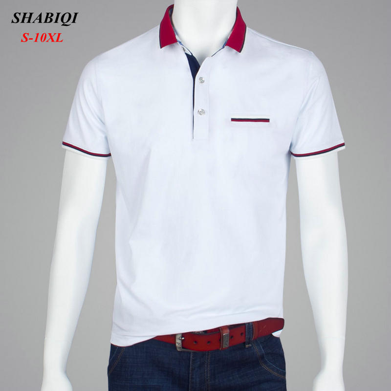 SHABIQI Men Clothes 2018 Brand Men shirt Men Polo Shirt Men Short Sleeve Pocket Models Polos Shirt Plus Size 7XL 8XL 9XL 10XL