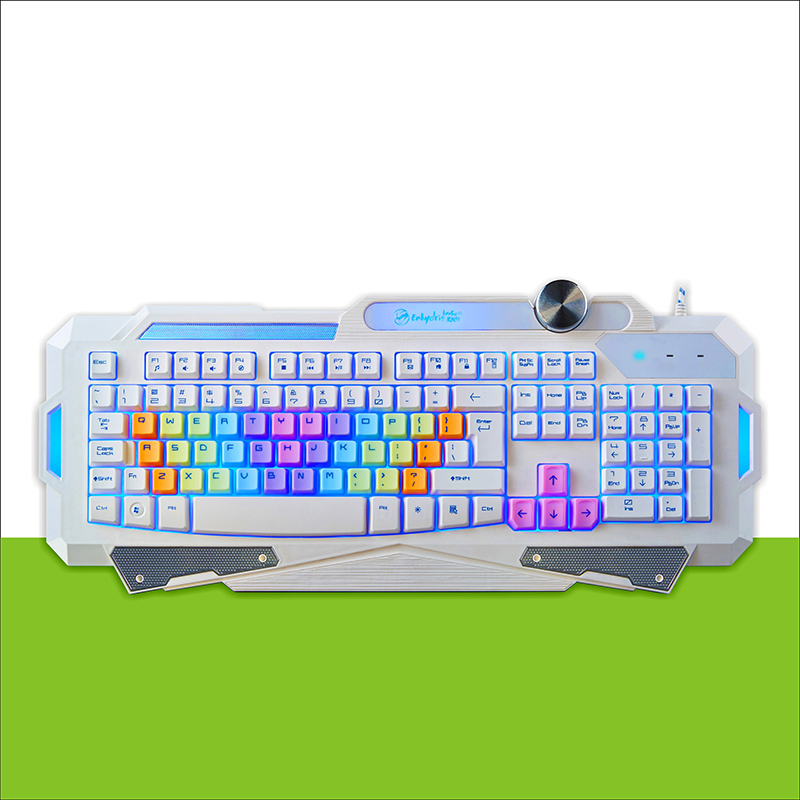 все цены на Free Shipping  New 7 Color LED Backlight Game Keyboard Professional Mechanical Computer Gamer Keyboard For Dota 2 LOL онлайн