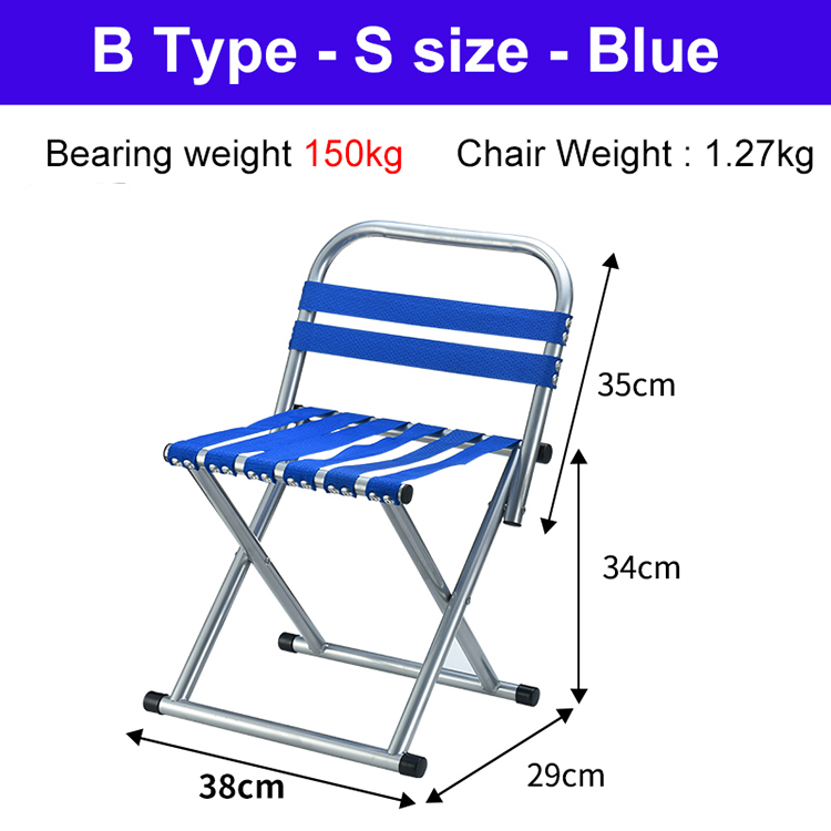 CHACHEKA Outdoor Portable Collapsible Fishing Chair Camping BBQ Beach Stool Folding Hiking Seat Garden Office Home Furniture