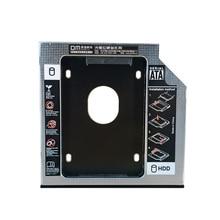 DM HDD Caddy DW127S 12.7mm Aluminum Optibay SATA 3.0 Hard Disk Drive Box Enclosure DVD Adapter 2.5 SSD 2TB For Laptop CD-ROM