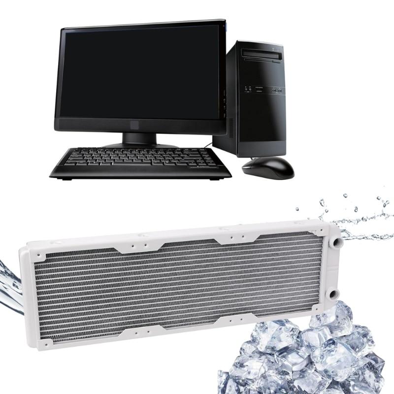 360mm Aluminum Water Cooler Kit Computer Radiator Water Cooler 18 Tube CPU Heat Sink Exchanger