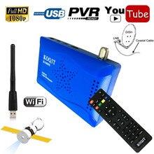 Mini Taille 1080 P DVB-S2 Récepteur Satellite Numérique Double Support USB Wifi IKS Cccam Newcam Puissance Vu Biss Youtube Set Top boîte