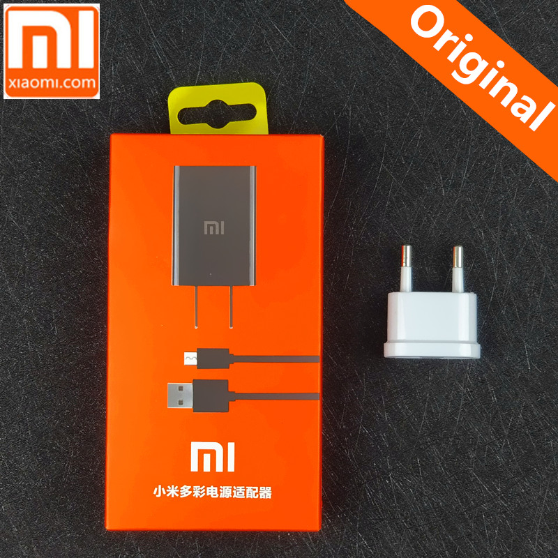 Original Xiaomi redmi note 5a For Redmi 4X 5 PLUS NOTE 4 4X 4A 5 Smartphone 5V/2A USB wall Travel Adapter with Micro usb cable